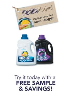 Free Sample Woolite – Available Again!