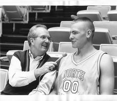 Throwback - Eric Montross and Woody Durham 1993 UNC Tarheels...used to be my favorite carolina player