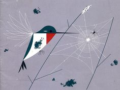 Hummingbird by Charley Harper.