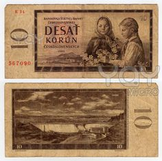 YAY Images - high resolution vintage czechoslovakian banknote from 1960 by ojal Vintage Stamps, Vintage Prints, Commemorative Coins, My Childhood Memories, Czech Republic, Bratislava, Royalty Free Stock Photos, Illustration, Childhood