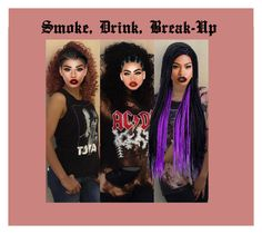 """""""Single:Smoke, Drink, Break-Up        Read D!"""" by virtuous-divines ❤ liked on Polyvore featuring Linda Farrow, Lime Crime and kitchen"""