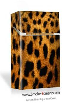 Leopard skin print on a Smoke Screenz cigarette case from www.smoke-screenz.com