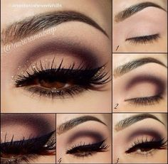 Easy Dramatic Smokey Eye Makeup - Lashes