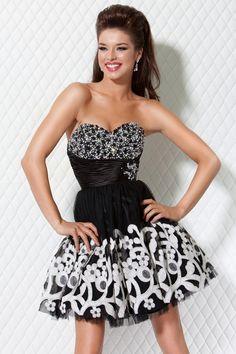 strapless cocktail dress.