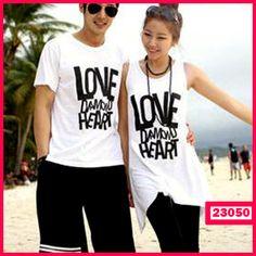 """Dress Couple White  Love Heart Kode : 23050  Harga : 85.000  Size :  – Pria : LD=53cm P=72cm  – Wanita : LD=47cm P=83cm  Bahan : Cotton Combed ==================   yukk order dengan sms ke 0838-71712018 atau add bbm kami di 7E82C02F  """"DICARI RESELLER DAN DISTRIBUTOR DI INDONESIA"""""""