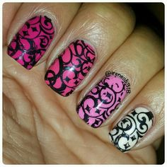 Pink with stamping
