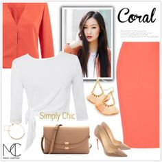 Dress Me Up in a Coral Colored Skirt!