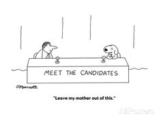 """""""Leave my mother out of this."""" - Cartoon Regular Giclee Print by Charles Barsotti at AllPosters.com"""