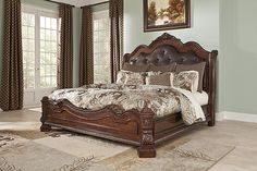 Brown Ledelle California King Sleigh Bed View 1