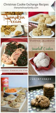 Christmas Cookie Exchange Recipes  www.thenymelrosefamily.com #christmascookies
