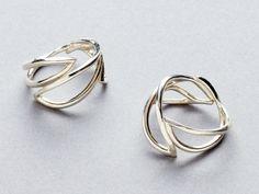 Triple leaf rings in sterling silver. www.curiosityandhappenstance.com