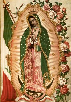 Our Lady of Guadalupe Religious Images, Religious Icons, Religious Art, Blessed Mother Mary, Blessed Virgin Mary, Virgin Mary Art, Catholic Religion, Catholic Art, Madonna