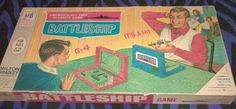 vintage Battleship board game complete by Milton Bradley strategy #MiltonBradley