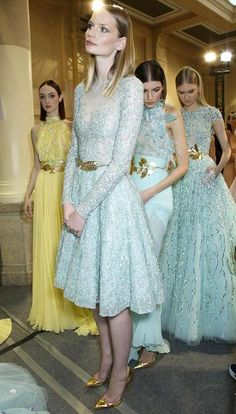 Romantic #Pastel Trend Zuhair Murad Spring Summer 2014 #couture #fashion #floral #dress