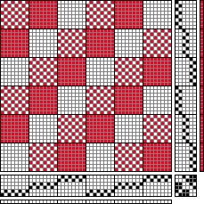 Hand Weaving Draft Sweet gingham 6S 6T