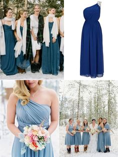 Trendy Bridesmaid Dresses for Christmas/Holiday Winter Wedding 2013