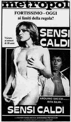 """""""Sensi caldi"""" (1980) di Arduino Sacco, con Saverio Ferragina ed Enzo Giannelli. Italian release: February 21, 1980 #MoviePosters"""