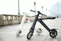 This is LEHE K1S Electric Folding Bike, Unique K-Shape design, easy to be folded and put in your car trunk, it is a absolute eye-catching gadget which can facilitate your commute from A to B. Your best traffic partner.