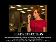 Joan Holloway #Madmen #selfreflection