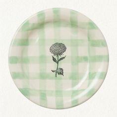 Green Gingham Picnic Plate