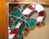 candy cane stained glass corner