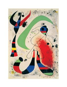 Night Print by Joan Miró at Art.com