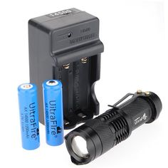 MECO Mini CREE Led Flashlight Torch Zoom Light Charger 14500 Battery >>> Continue to the product at the image link.