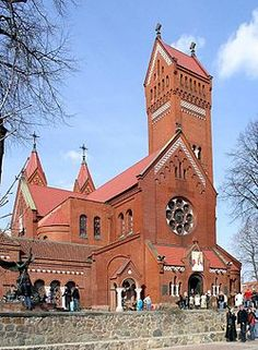 Church of Saints Simon and Helena - Roman Catholic Church on Independence Square in Minsk, Belarus