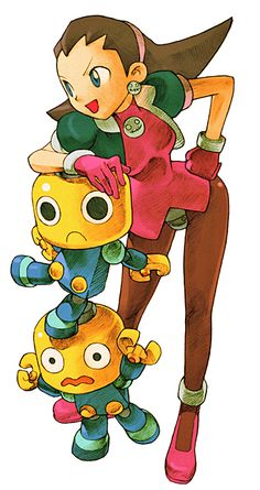 Tron Bonne and her Servbots by Bengus