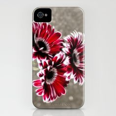Triple Gerbera Fractalius iPhone Case by F Photography and Digital Art - $35.00