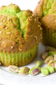 Green Pistachio Muffin Recipe (I added some pistachio pudding mix for the color instead of food coloring)