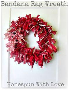 Homespun With Love: Bandana Rag Wreath