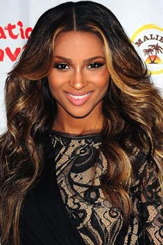 Ciara's coppery blond Highlights