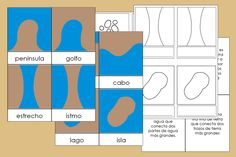 Formas de la Tierra y el Agua Montessori – Imprimible Gratis Montessori Homeschool, Homeschooling, Montessori Materials, Social Studies, Worksheets, Teacher, Science, Education, History