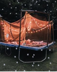 Have a sleepover on a trampoline with my bffs Sleepover Room, Fun Sleepover Ideas, Sleepover Activities, Summer Goals, Summer Fun, Nail Summer, Summer Nights, Cute Date Ideas, Dream Dates