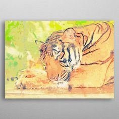 Want a metal print copy?: Visit Store Description: tiger painting wall art by William Ng Wall Art Prints, Poster Prints, Framed Prints, Canvas Prints, Posters, Tiger Painting, Canvas Art, Spiral Notebooks, Portable Battery