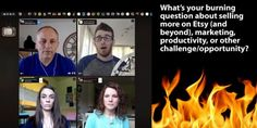 Monday Mastermind with Making It On Etsy.  This week's panel ...  Melissa Kaiserman is an Etsy b...
