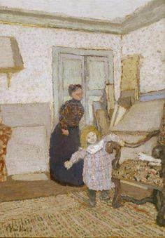 Édouard Vuillard - 'First Steps' - (c.1895-1900)