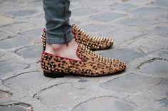 spikes and leopard in a perfect flat shoe