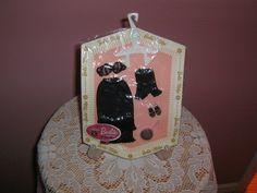 ON LINER-in-pkg. vintage 1962-1963 MATTEL BARBIE BLACK lingerie fashion set: #ClothingShoes