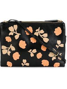 floral appliqué crossbody bag