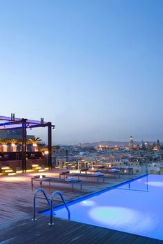 Grand Hotel Central. Head to the rooftop infinity pool for showstopping views of Barcelona, Spain. #Jetsetter