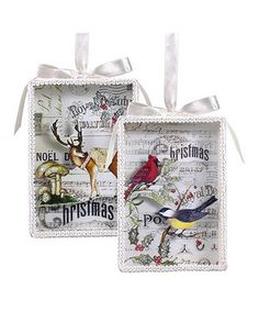 Trim the tree with timeless style with the help of this set of festive, fanciful ornaments. They feature a charming design that'll bring seasonal cheer to the home for many Christmases to come.
