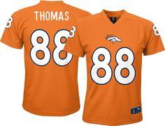 NFL Team Apparel Youth Denver Broncos Demaryius Thomas  88 Orange T-Shirt cc5c63bc2