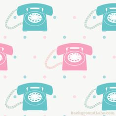 Seamless Pattern With Retro Phones - Background Labs