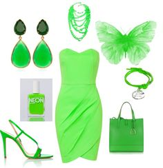 """tRYtHISoNfORgREEN"" by magsterific on Polyvore"