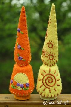 Embroidered gnomes