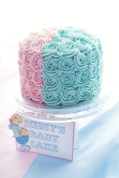Rosette Cake Decorating SANDY THIS CAKE & THE LAVENDER CAKE ARE BASICALLY THE SAME SO YOU CAN PICK THE EASIEST ONE.