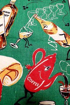 Vintage Irish Whiskey Towel