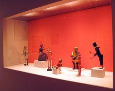 Kurt Schmidt & Toni Hergt (fabricator), Seven of eight puppets for the play Die Abenteuer des kleinen Buckligen (The adventures of the little hunchback) directed by Oskar Schlemmer at the Bauhaus theater, Weimar 1923.